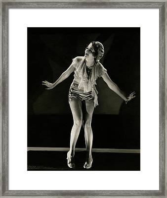 Portrait Of Ruby Keeler Framed Print by Edward Steichen