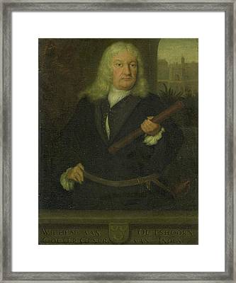 Portrait Of Willem Van Outhoorn, Governor General Framed Print