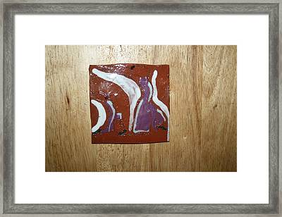 Pose - Tile Framed Print by Gloria Ssali