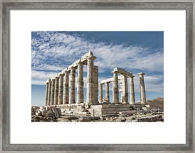 Poseidon's Temple Framed Print by Gabriela Insuratelu