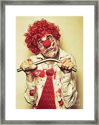 Possessed Horror Clown With Supernatural Strength Framed Print by Jorgo Photography - Wall Art Gallery