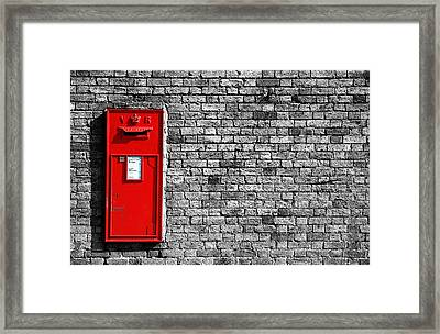Post Box Framed Print by Mark Rogan