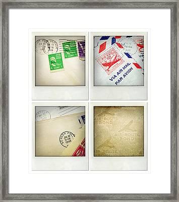 Postal Still Life Framed Print by Les Cunliffe
