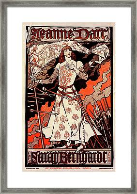 Poster For Le Théâtre De La Renaissance Framed Print