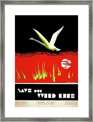 Poster National Parks Framed Print by Granger