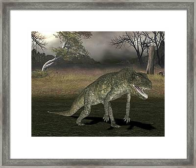 Postosuchus Dinosaur Framed Print