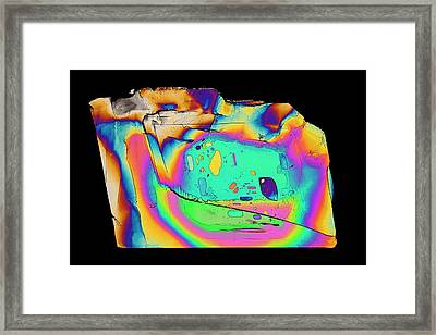 Potassium Salicylate Framed Print by Steve Lowry