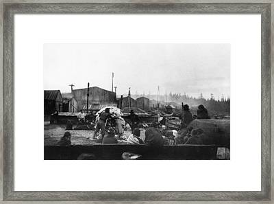 Potlatch Ceremony, 1894 Framed Print by Granger