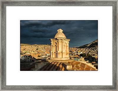 Potosi Church Dome Framed Print by For Ninety One Days
