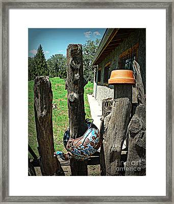 Pots And Posts Framed Print