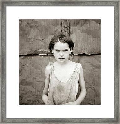 Poverty Girl, 1936 Framed Print by Granger