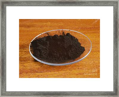 Powdered Charcoal Framed Print