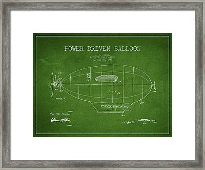 Power Driven Balloon Patent Framed Print