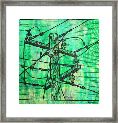 Power Lines Framed Print by William Cauthern