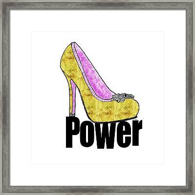 Power Shoe Framed Print