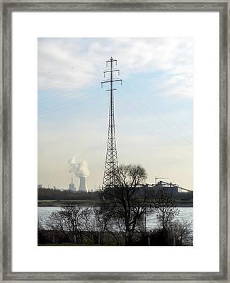 Power Station Framed Print by Detlev Van Ravenswaay