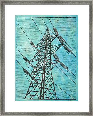Power Framed Print by William Cauthern