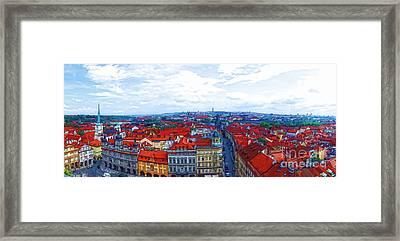 Prague - Panorame Framed Print