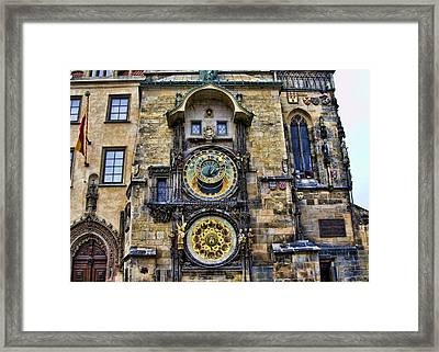 Prague - Astronomical Clock Framed Print by Jon Berghoff