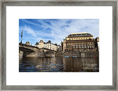 Prague From Vltava Framed Print by Jelena Jovanovic