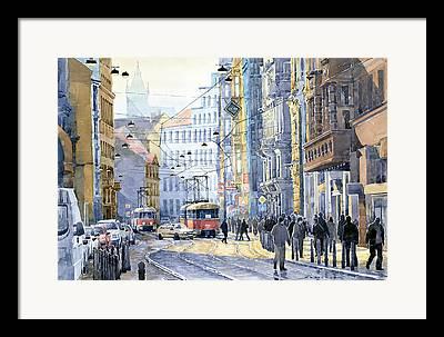 Tram Photographs Framed Prints