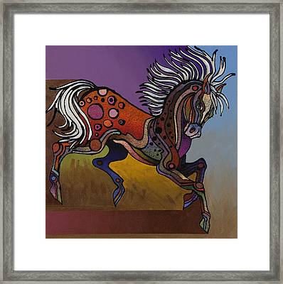 Prancer Framed Print by Bob Coonts