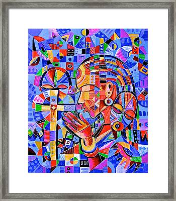 Prayer Framed Print by Angu Walters