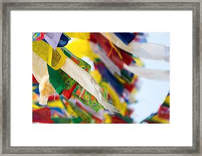 Prayer Flags Framed Print