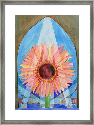 Praying Gerbera Framed Print