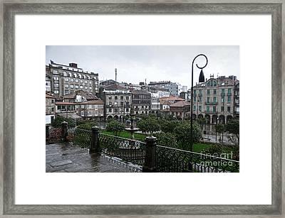 Praza Da Ferreria In Pontevedra Framed Print
