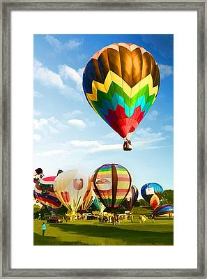 Framed Print featuring the photograph Preakness Balloon Festival by Dana Sohr