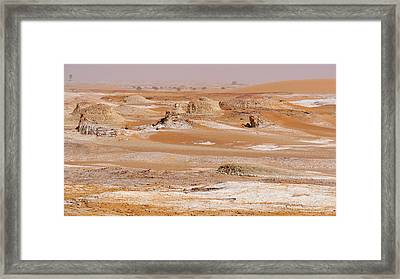 Prehistoric Saharan Lake Deposits Framed Print by Thierry Berrod, Mona Lisa Production