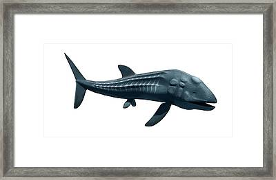 Prehistoric Sea Creature Framed Print by Sciepro