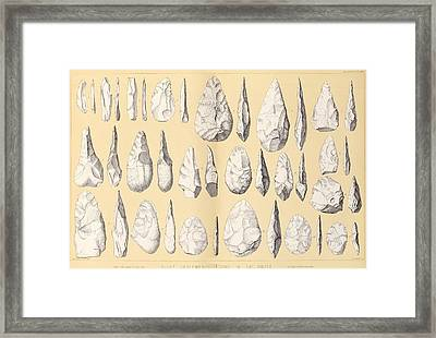 Prehistoric Stone Tools Framed Print by Middle Temple Library