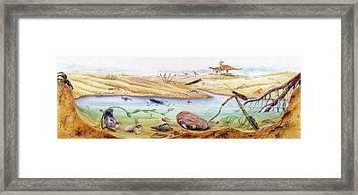 Prehistoric Watertight Ecosystem Framed Print