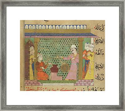 Preparation Of Medicines Framed Print by British Library