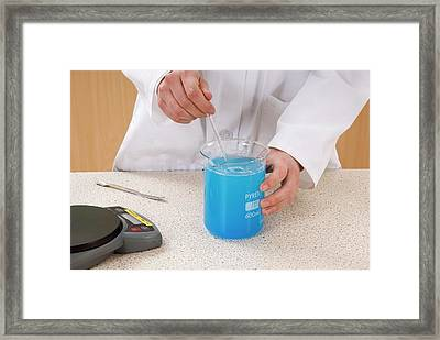 Preparing Copper Sulphate Solution Framed Print