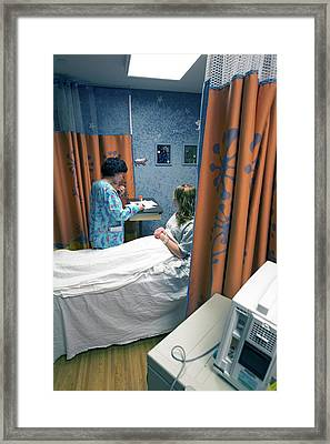 Preparing Teenage Patient For Surgery Framed Print