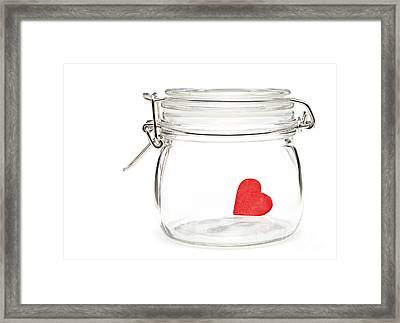 Preserved Heart Framed Print by Shawn Hempel