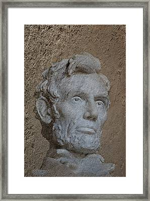 President Lincoln Framed Print by Skip Willits