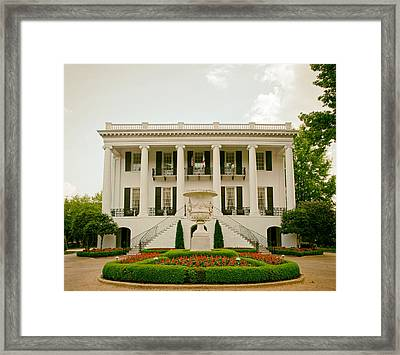 President's Mansion - University Of Alabama Framed Print by Mountain Dreams