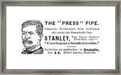 'press' Pipe, 1893 Framed Print