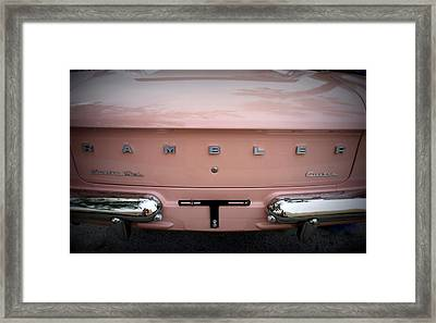Framed Print featuring the photograph Pretty In Pink by Laurie Perry