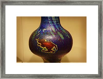 Framed Print featuring the digital art Pretty Pot by Artistic Panda