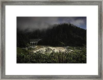 Pretty Trail Up To The Light Framed Print