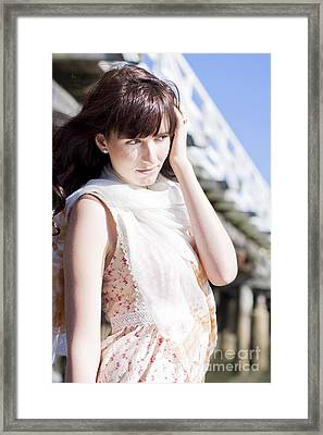 Pretty Young Fashion Model Framed Print by Jorgo Photography - Wall Art Gallery