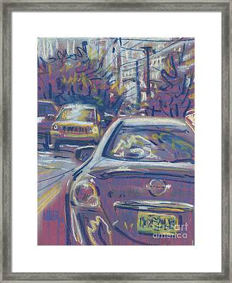 Framed Print featuring the painting Primary Parking by Donald Maier