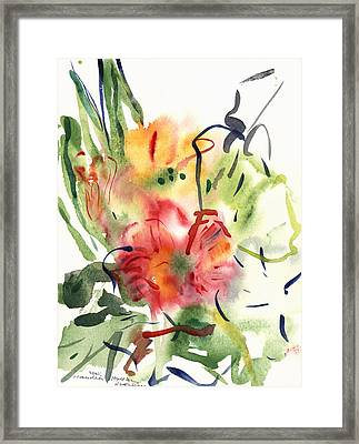 Primroses Framed Print by Claudia Hutchins-Puechavy