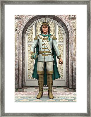 Prince In Fairytale Palace Framed Print by Design Windmill