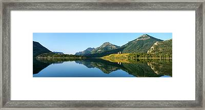 Prince Of Wales Hotel In Waterton Lakes Framed Print by Panoramic Images